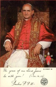 1963postcard Pope Paul VI