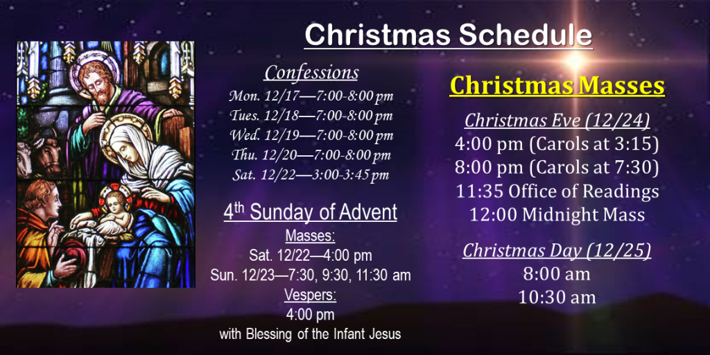 2018_Christmas_Schedule
